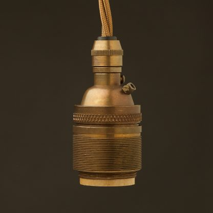 Antique Brass E26 120V Cordgrip Pendant Barrel