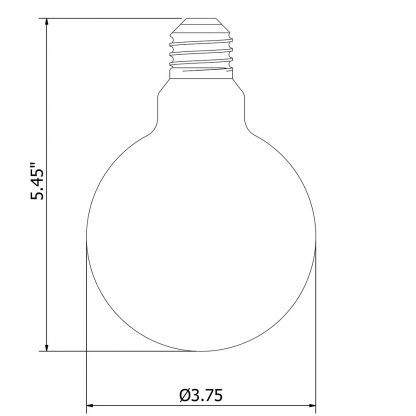 3 Watt Dimmable LED E26 Clear G95