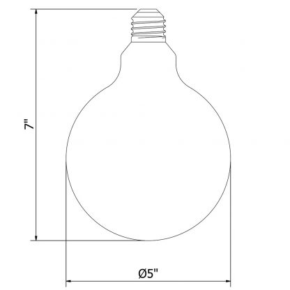 8 Watt Dimmable Lantern Filament LED Clear G125