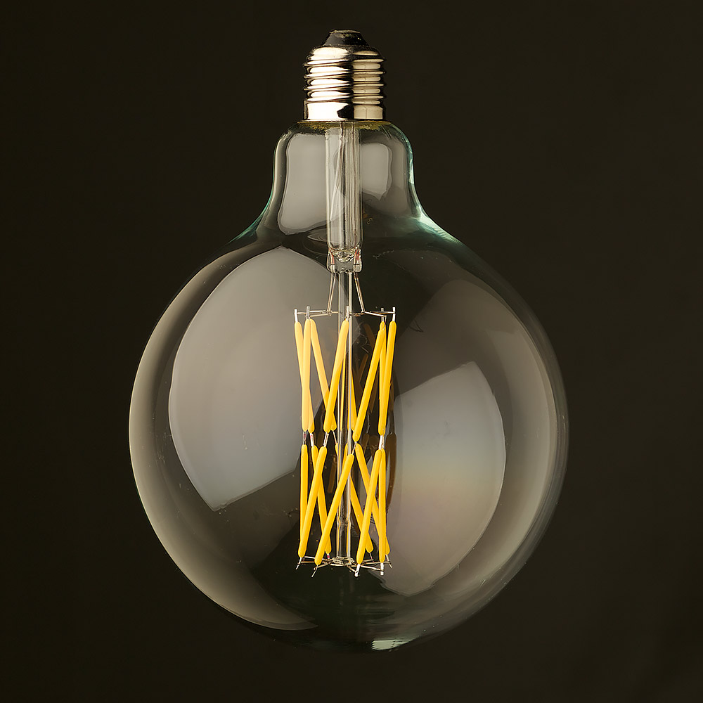 12 watt dimmable filament led clear g125 round bulb. Black Bedroom Furniture Sets. Home Design Ideas