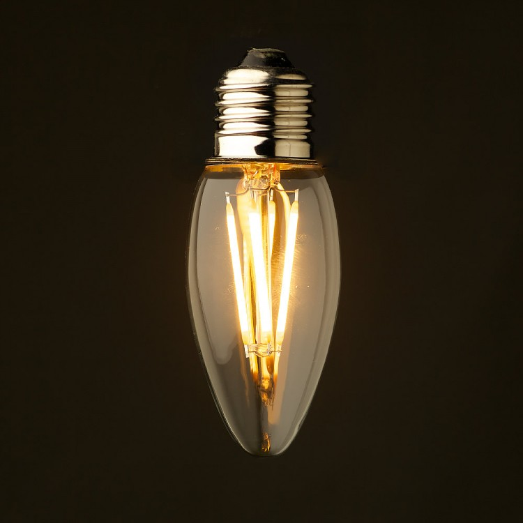 3 watt dimmable filament led candle bulb. Black Bedroom Furniture Sets. Home Design Ideas