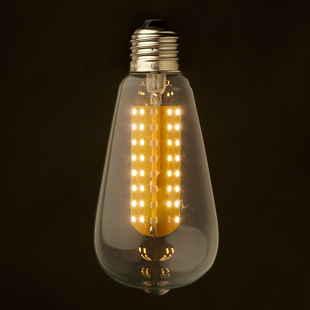 3 watt dimmable led e26 clear edison bulb. Black Bedroom Furniture Sets. Home Design Ideas