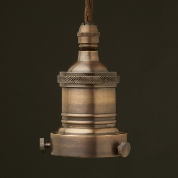 Antiqued Bronze 2.25 inch Cast Gallery and Lampholder