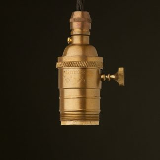 Antique Brass E26 Edison Screw 3 Way Switched Socket pendant UNO Thread