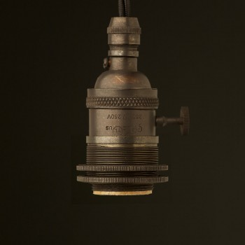 Bronze E26 Edison Screw 3 way switched lampholder