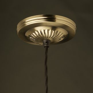 Antiqued Brass plated ceiling canopy UL Box cover
