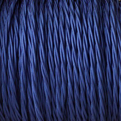 Cloth covered braided 3 core lighting Flex 120V blue