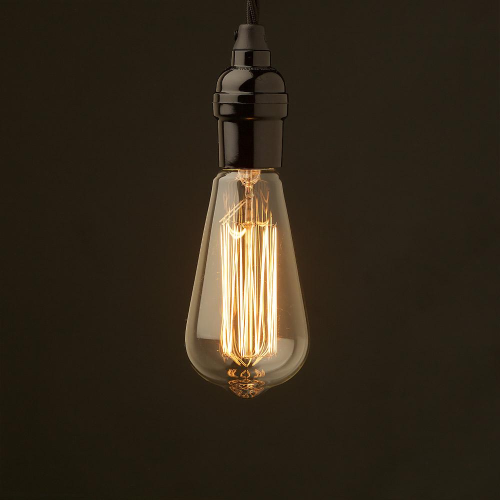 Pendant Light Bulb Type : Edison style light bulb e bakelite pendant