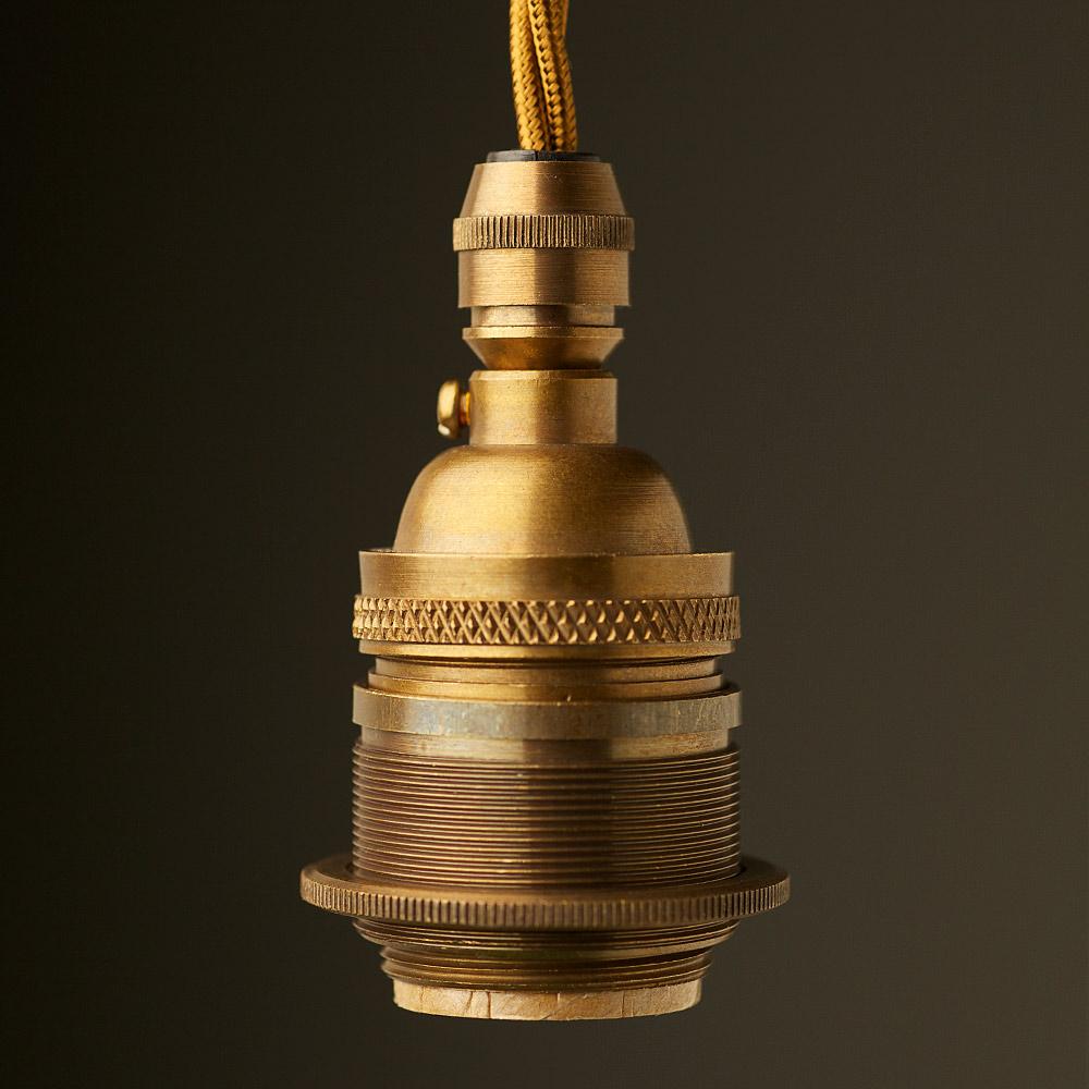 Antique brass e26 cordgrip pendant socket aloadofball Gallery