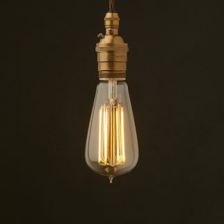 Edison style light bulb and E26 brass pendant