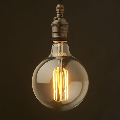 Edison style light bulb and E26 bronze pendant