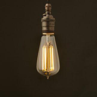 Edison Style Light Bulb E26 Bronze Pendant 6W LED teardrop