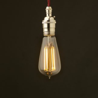 Edison style light bulb and E26 nickel pendant