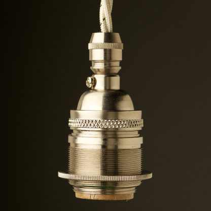 Nickel Plate E26 120V Cordgrip Pendant lampholder
