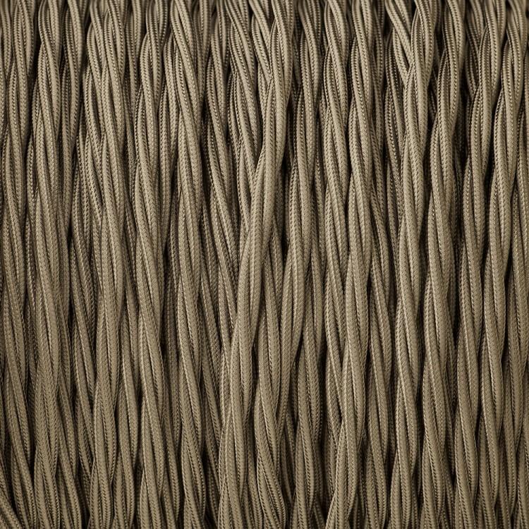 Cloth covered braided 3 core lighting Flex 120V