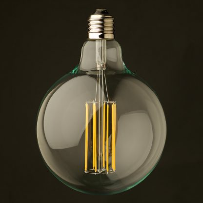 8 Watt Dimmable Lantern Filament LED E26 Clear G125