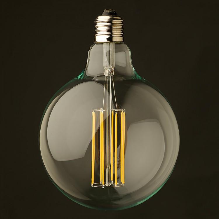 8 Watt Dimmable Lantern Filament LED E26 Clear G125