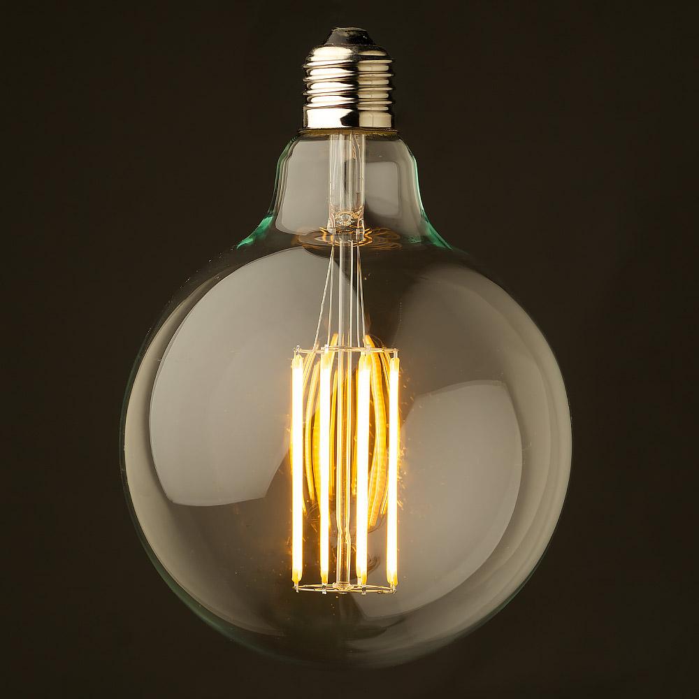 8 watt dimmable lantern filament led clear g125. Black Bedroom Furniture Sets. Home Design Ideas