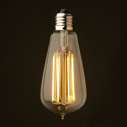 6 Watt Dimmable Lantern Filament LED E26 Clear Edison