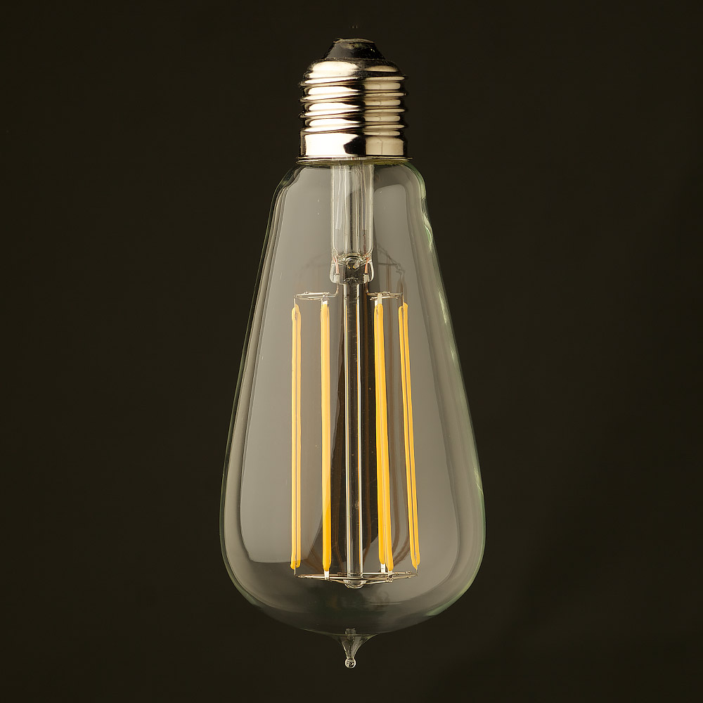 6 watt dimmable lantern filament led clear edison. Black Bedroom Furniture Sets. Home Design Ideas