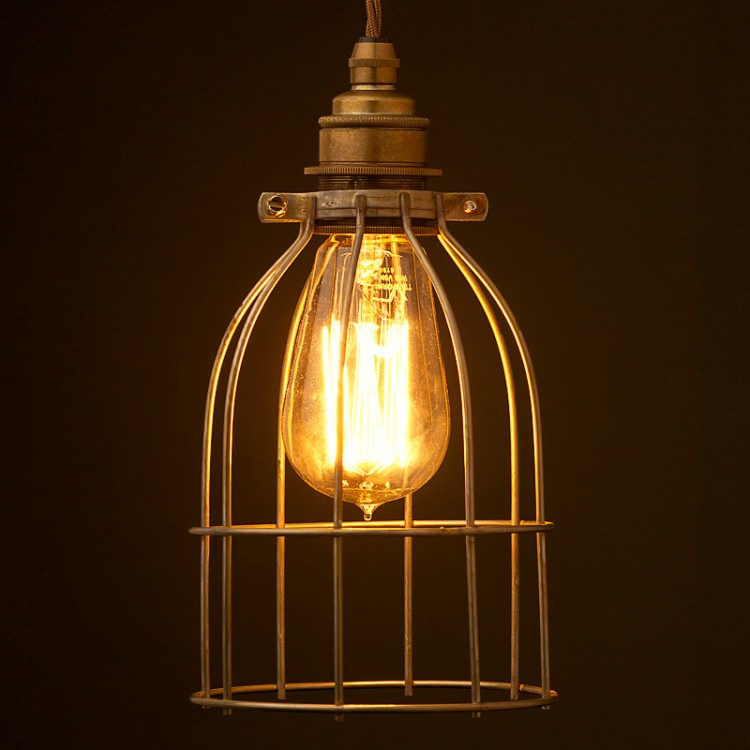 Light Bulb Antiqued Cage Fitting