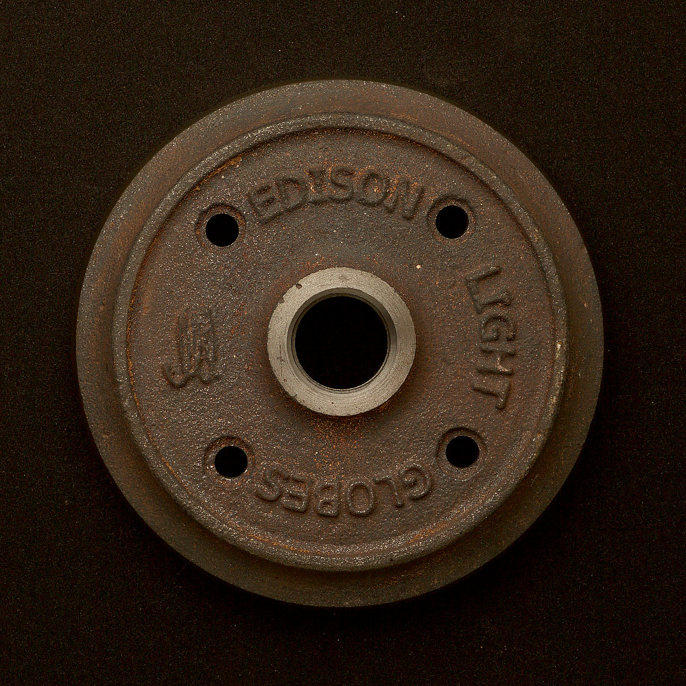 Cast iron flange plate