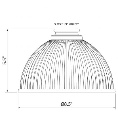 Holophane Dome Light Shade