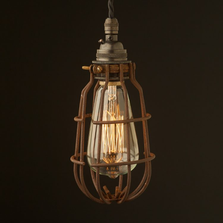Bronze socket enclosed cage pendant