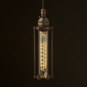 Brass socket tube cage pendant