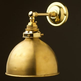 New Brass Straight arm wall sconce brushed brass shade