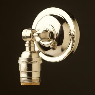 Nickel Wingnut Wall mount E26 socket