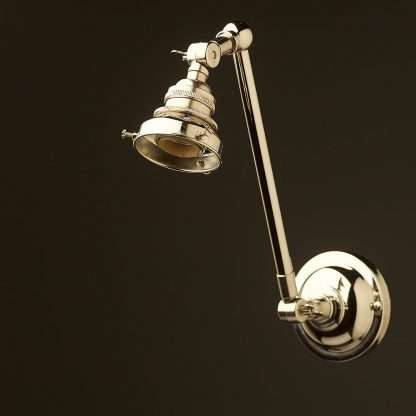 Nickel Adjustable arm wall sconce shade