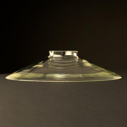 Clear glass dish shade 8.5 inch