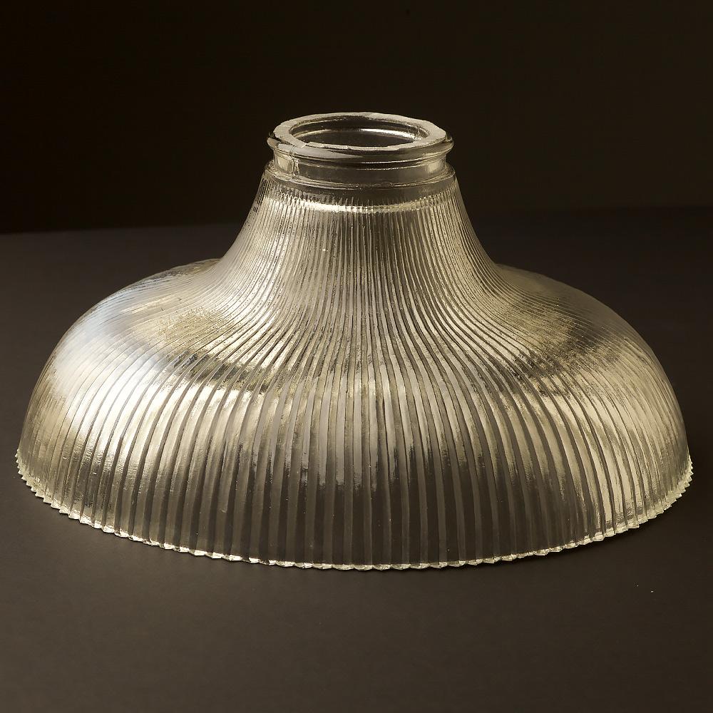 Large Holophane Glass Dish Light Shade