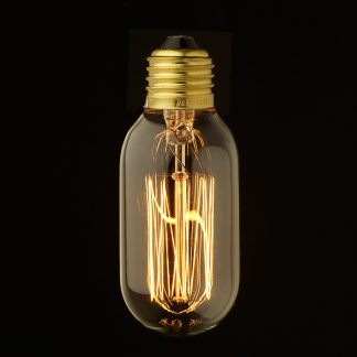 Vintage Edison Squirrel Cage fat tube filament bulb