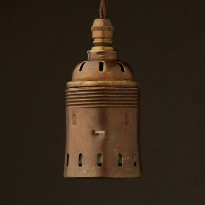 GES Antiqued Brass pendant socket