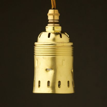 GES New Brass pendant socket