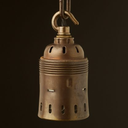 Hook top GES Antique brass socket