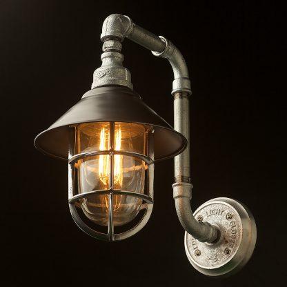 Outdoor Plumbing pipe wall shade lamp underside