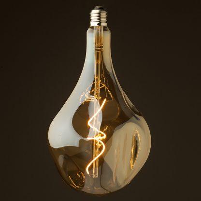 4 Watt dimmable filament LED amber glass A165 random globe