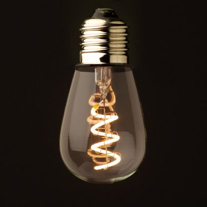 2 Watt Dimmable spiral filament LED E26 Edison