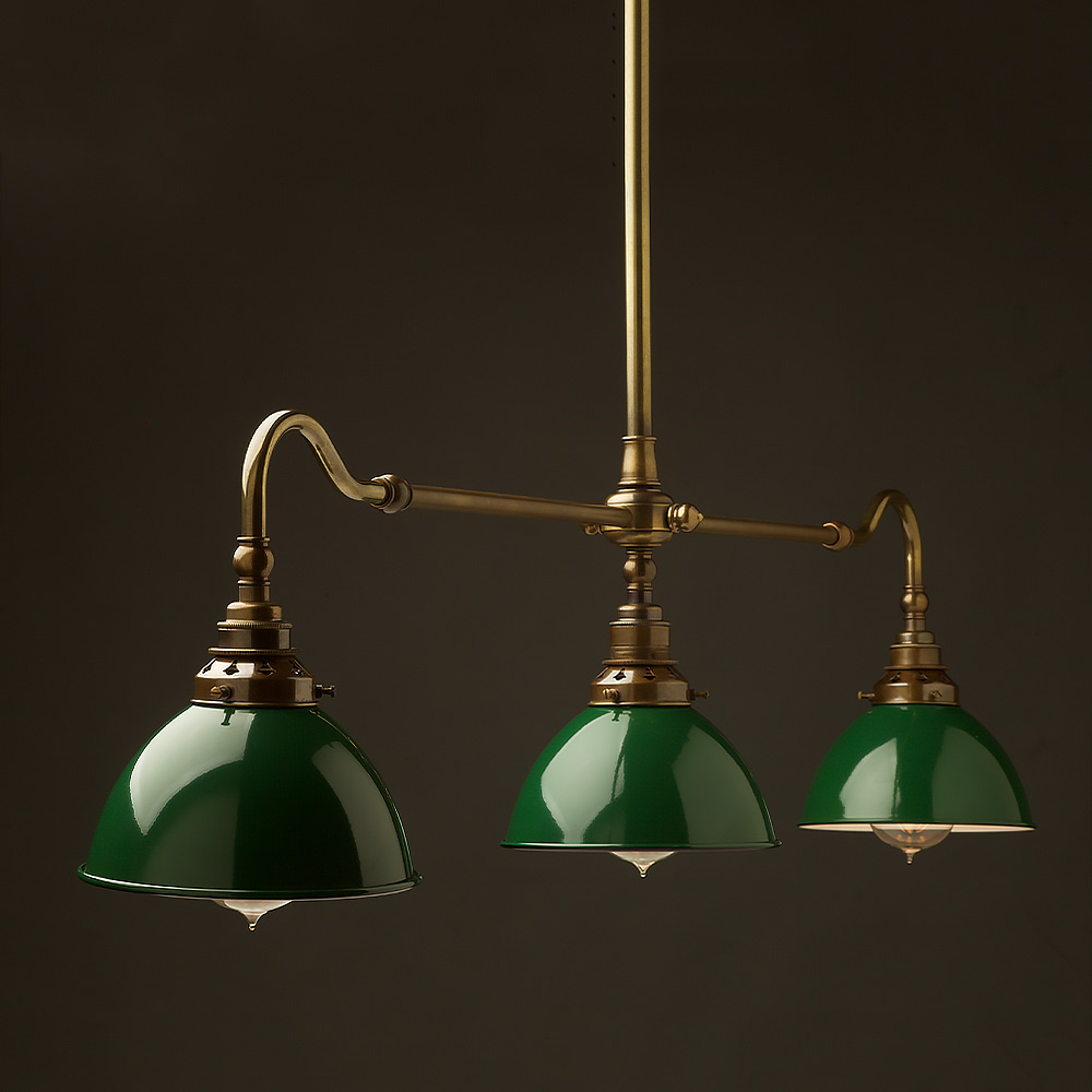 Antique Br Single Drop Billiard Table Light Edison Globes Llc