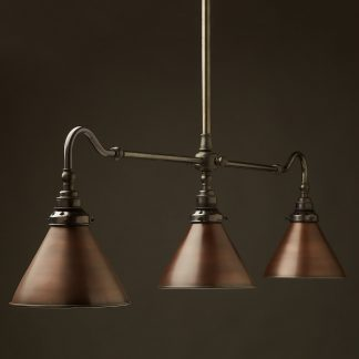 Brass single drop Billiard Table Light bronze cone