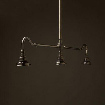 Bronze single drop Billiard Table Light no shade