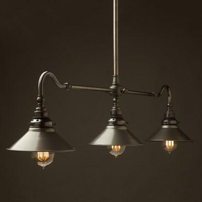 Bronze single drop Billiard Table Light steel hat