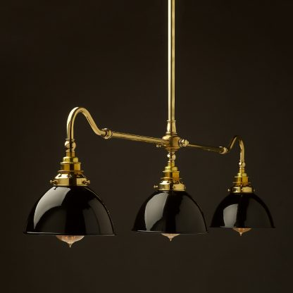 New Brass single drop Billiard Table Light black dome