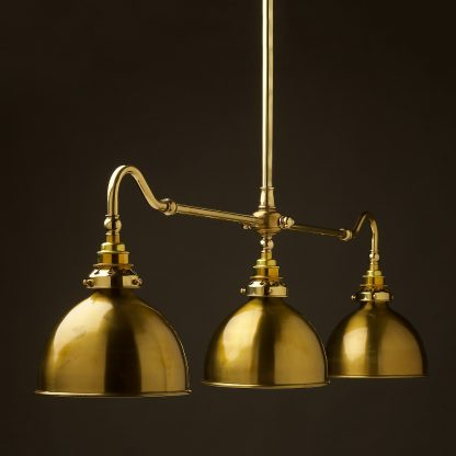 New Brass single drop Billiard Table Light brass dome