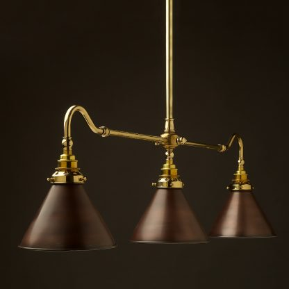 New Brass single drop Billiard Table Light bronze cone