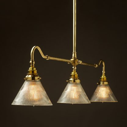 New Brass single drop Billiard Table Light holophane cone