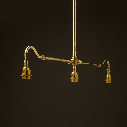New Brass single drop Billiard Table Light no shade or gallery